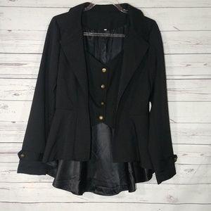 Steampunk Tuxedo Jacket with Peplum Style Tail Lg